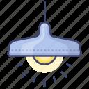ceiling, interior, lamp, pendant icon
