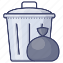 can, garbage, household, trash icon