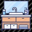 shelf, storage, towels icon