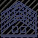 attic, interior, loft, attics icon