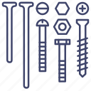 bolts, hardware, nails, screws icon