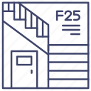 exit, staircase, stairs, stairwell icon