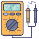 ampere, electricity, meter, voltmeter icon