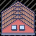 attics, attic, interior, loft icon