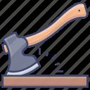 tool, axe, construction, hatchet icon