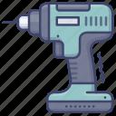cordless, drill, drills, driver icon