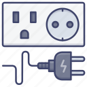 electricity, socket, electric, plug icon