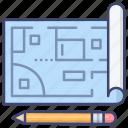 blueprint, design, floor, plan