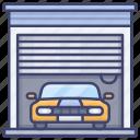 car, garage, house, vehicle