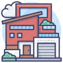 building, home, residence, house icon