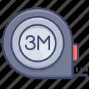 pocket, ruler, measure, tape icon