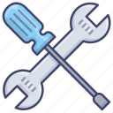 screwdriver, spanner, tools, wrench icon