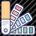color, design, pallete, pantone icon