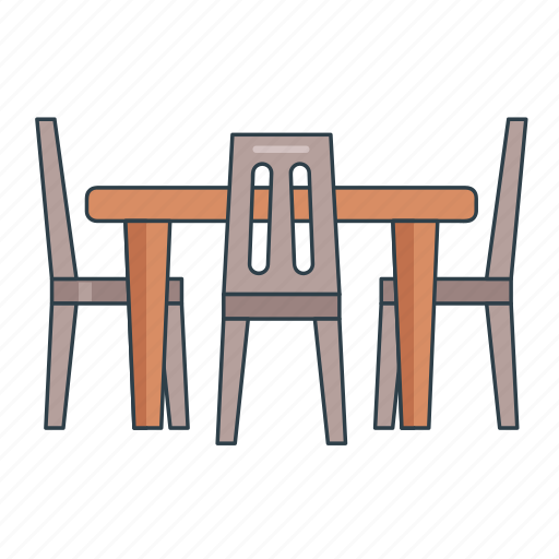 chairs, dining, furniture, interior, restaurant table, table icon