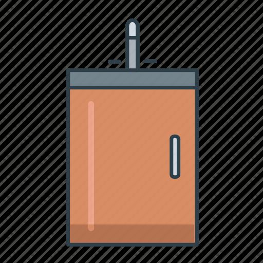 basin, interior, kitchen, kitchen basin, kitchen sink, sink icon
