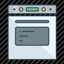 cooking range, interior, kitchen, oven, range, stove icon