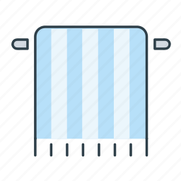 bath, bathroom, blanket, dry, hotel, service, towel icon