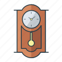 clock, decoration, home, household, interior, retro, wall icon