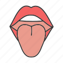 face, female, lip, mouth, oral cavity, teeth, tongue icon