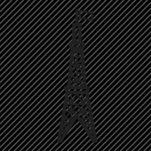 eiffel tower, france, french, paris, travel icon