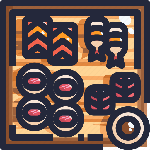 food, japan, roll, sushi icon