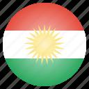 country, european, flag, kurdish, kurdistan, national, region icon