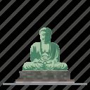 buddha, japan, kamakura, landmark, religion, statue, travel icon