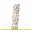 bell tower, italy, landmark, leaning, pisa, tower, travel icon