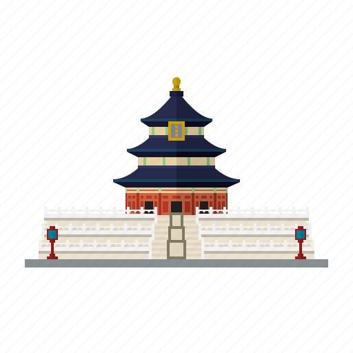 beijing, building, china, landmark, pagoda, temple of heaven icon