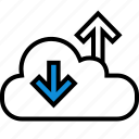 cloud, down, internet, online, seo, up, web icon