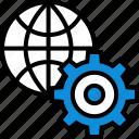 earth, globe, internet, online, seo, settings, web icon