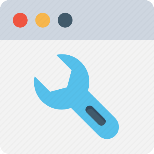 browser setting, cms, spanner, web development, website icon