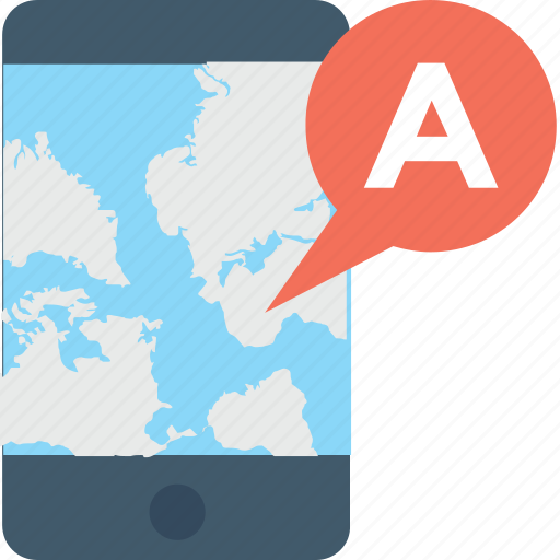 map, mobile, navigation, online maps, smartphone icon