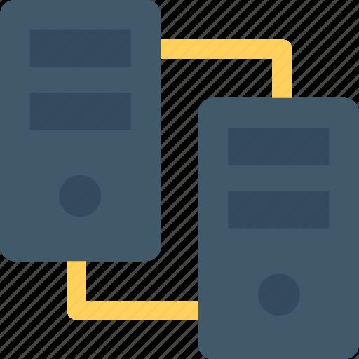 database, mainframe, networking, server, server sharing icon