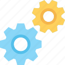 cogs, cogwheels, maintenance, repair, services icon