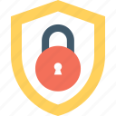 cyber security, lock, protection, security, shield icon