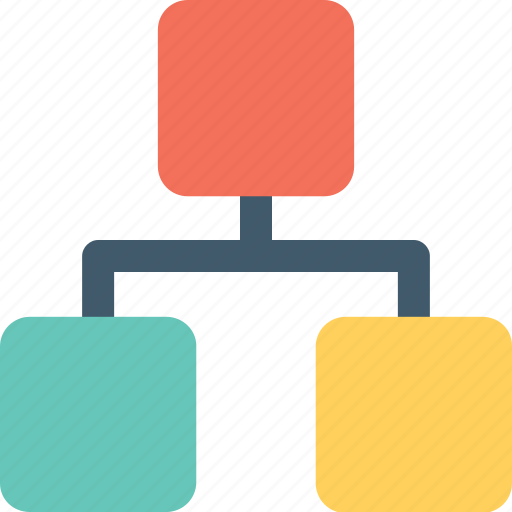 hierarchy, network, sharing, sitemap, structure icon