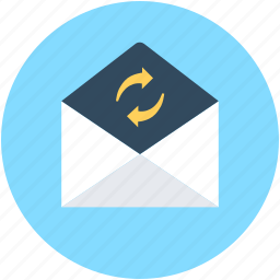 email, email sync, envelope, inbox, letter icon