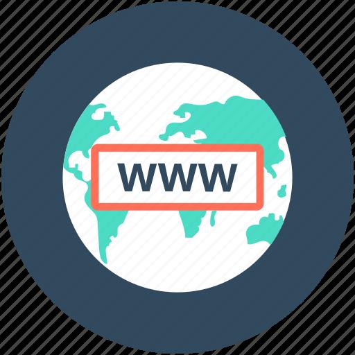 domain, globe, internet, world wide web, www icon