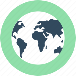 geography, globe, map, planet, world map icon