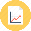 business document, business report, graph report, statistical report, stock report icon