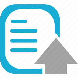 arrow, document, format, paper icon