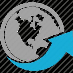 communication, internet, network, web, world icon