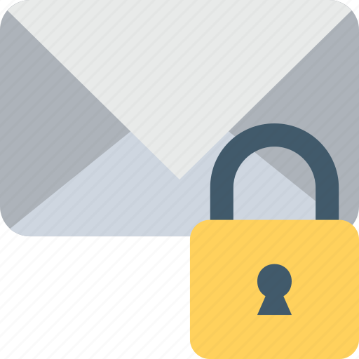 email, encryption, inbox, lock, mail icon