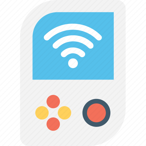 game, gameboy, play, videogame, wifi icon