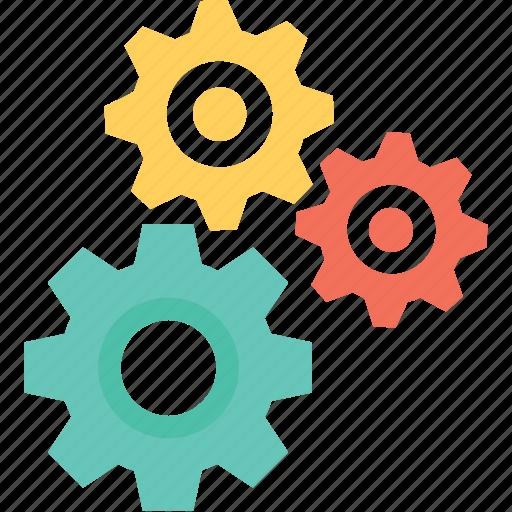 cogs, cogwheels, maintenance, repair, services icon