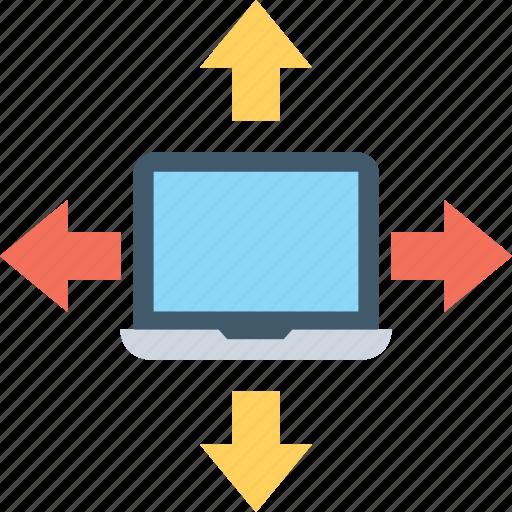client server, lan, laptop, networking, topology icon