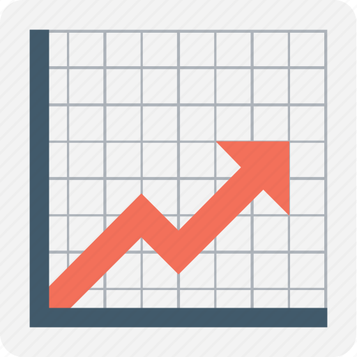 analytics, graph, growth, infographics, line graph icon