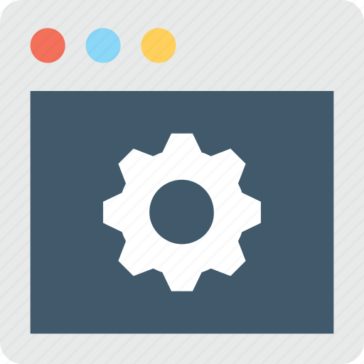 cog, web development, web setting, webpage, website icon