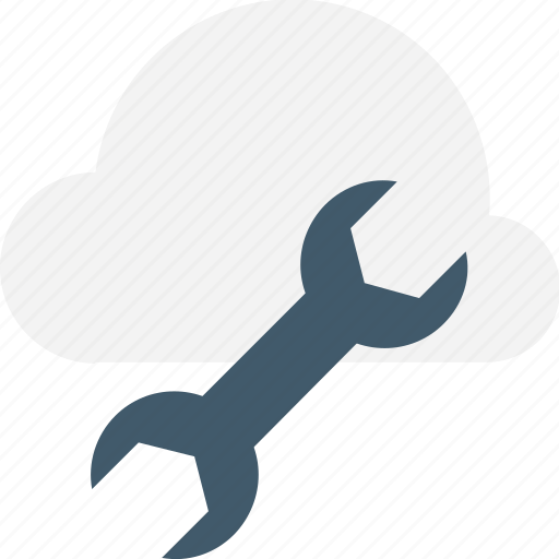 cloud computing, cloud service, icloud, spanner, wrench icon